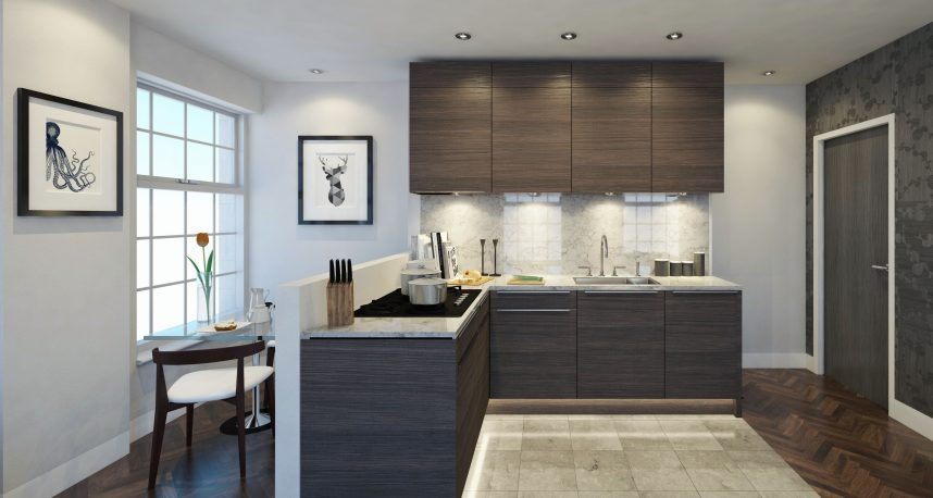 Typical 1 Bed Apartment Kitchen