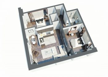 Typical 2 Bed Apartment Layout
